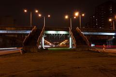 Express way at night time Stock Photos
