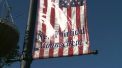 New fairfield welcome flag (1 of 2) - stock footage