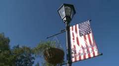 New fairfield welcome flag (2 of 2) Stock Footage