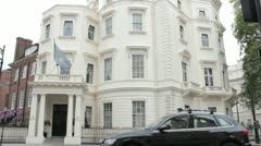 Argentinean Embassy London Stock Footage
