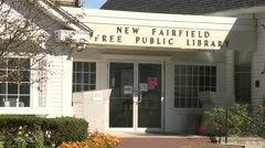 New Fairfield Free Public Library (4 of 6) - stock footage