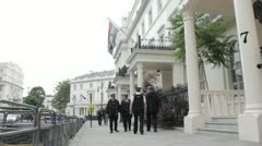 Syrian Embassy London Stock Footage