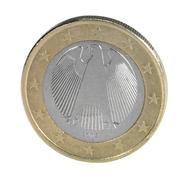 Backside euro coin closeup Stock Photos