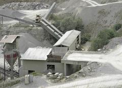 gravel mill detail - stock photo