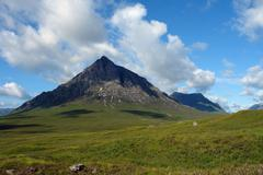 buachaille etive mor in sunny ambiance - stock photo