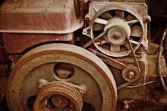 Old dilapidated machinery Stock Photos
