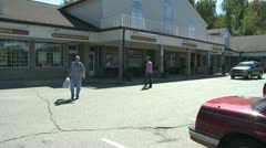 Small shopping center (1 of 5) - stock footage