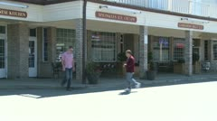 Small shopping center (2 of 5) - stock footage
