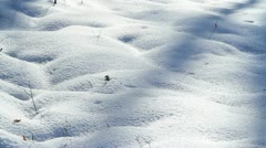 Snow surface in morning light. Stock Footage