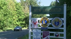 Signs of New Fairfield (8 of 8) - stock footage