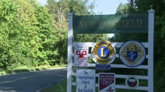 Signs of New Fairfield (7 of 8) - stock footage