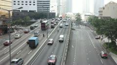 Traffic of HongKong timelapse - stock footage