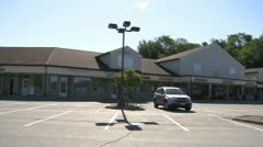 Small shopping center (4 of 5) - stock footage