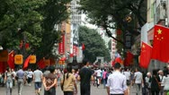 Crowd in the street timelapse Stock Footage