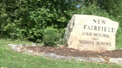 New Fairfield high and middle school (2 of 8) - stock footage
