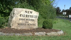 New Fairfield high and middle school (3 of 8) - stock footage