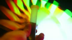 Solution test tube testtube trippy drugs Stock Footage