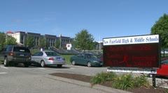 New fairfield school field (12 of 13) Stock Footage