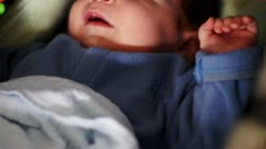 Baby In Cart Stock Footage
