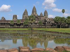 Angkor Wat in Cambodia - stock photo