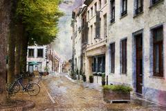 Streets of Maastricht, Netherlands - stock photo