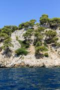 Calanques coast near cassis in provence, southern france Stock Photos