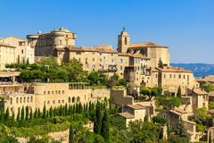 Gordes medieval village in southern france Stock Photos