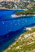 Aerial view on cassis and calanque coast, southern france Stock Photos