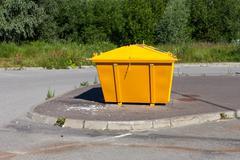 urban trash container - stock photo