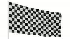 Checker flag Stock Footage