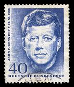 jfk postage stamp - stock photo