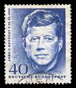 Stock Photo of jfk postage stamp