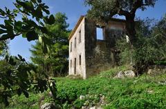 rural house ruins - stock photo