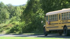 School bus on the road (2 of 2) Stock Footage