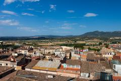View from above on spanish town Stock Photos