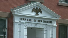 New Milford Town Hall (1 of 3) - stock footage