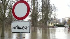 River flood - Hochwasser Stock Footage