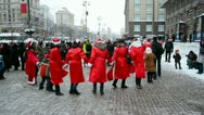 Santa Claus Parade on December 22, 2012 in Kiev, Ukraine. Stock Footage