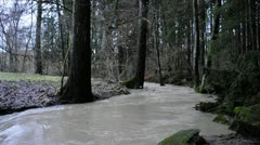 Flood during snow melt Stock Footage