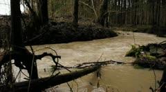 Flood during snow melt Stock Footage