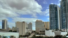 Fort Lauderdale Skyline in the afternoon. Stock Footage