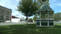 Small town square (2 of 3) - stock footage