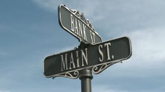 Vintage Main Street sign (1 of 1) Stock Footage