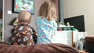 Stock Video Footage of Kids wathcing tv
