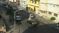 684b high angle stop motion street traffic Stock Footage