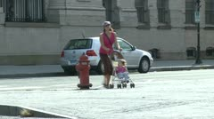 Strolling down a village street (12 of 13) Stock Footage