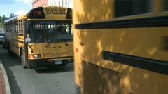 School bus pick-up (2 of 3) Stock Footage