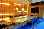 Stock Photo of empty office conference room