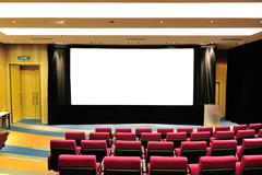 empty lecture theater - stock photo