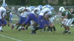 High school football game (10 of 11) Stock Footage